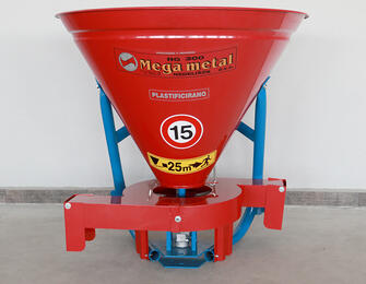 Mounted fertilizer spreader Megametal RG 300 with targeting module